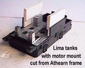 the tank with motor mount,